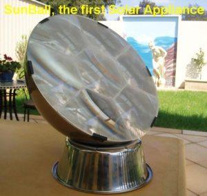 Sunball, un panel fotovoltaico de concentración