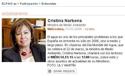 Encuentro con la Ministra de Medio Ambiente en El País. Actualizado
