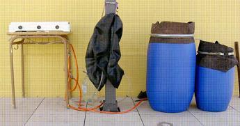 Cocina de biogás casera